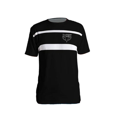 Black Double Stripe T-Shirt - Dark Sentinel