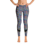 Blue Patterned Leggings - Dark Sentinel
