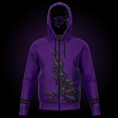 Purple zip-up hoodie