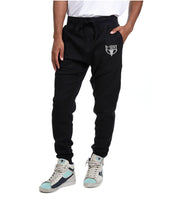 Black Embroidered Joggers - Dark Sentinel