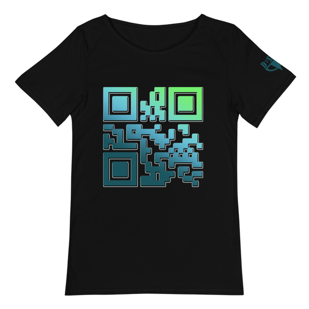 Encode QR Raw Neck T-Shirt - Dark Sentinel
