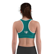 Green sports bra racerback from DSent