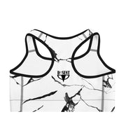 Black and white marble racerback sports bra - DSent