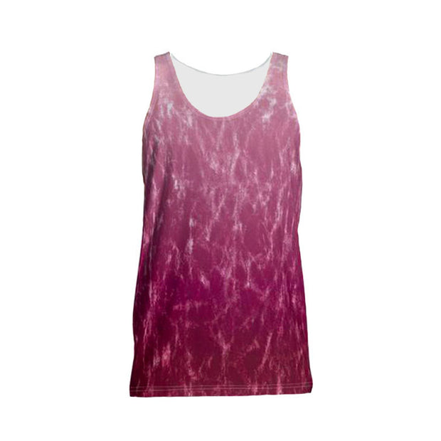Patterned Red Ombre Tank Top - Dark Sentinel