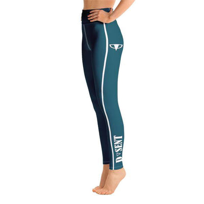 Sherpa Blue Yoga Leggings - Dark Sentinel