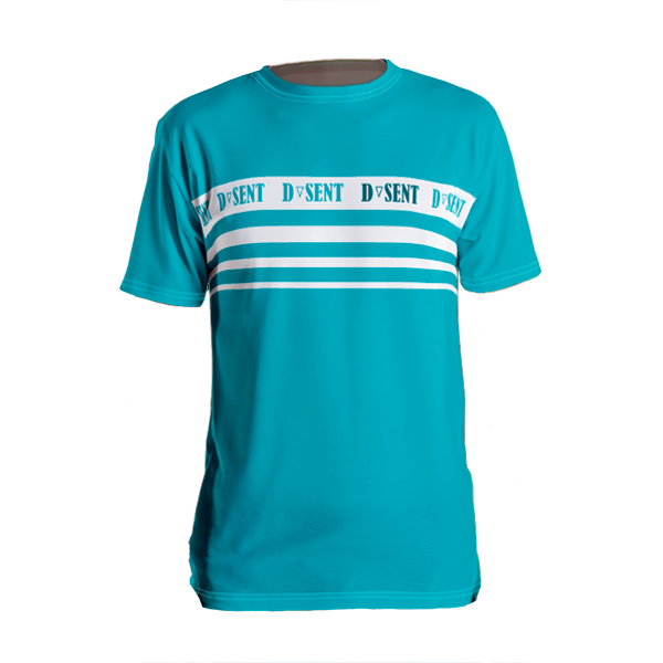 Strong Cyan Stripe T-shirt - Dark Sentinel