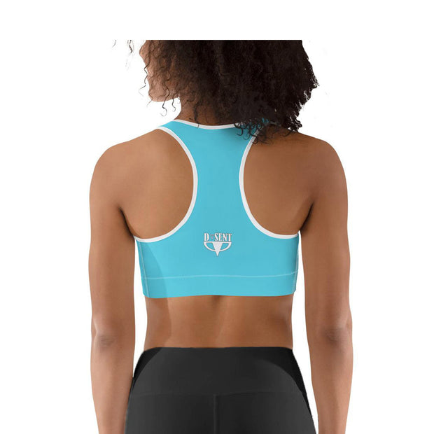 Sports bra racerback in turquoise