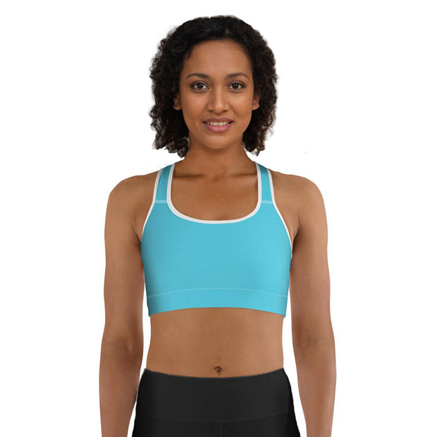 turquoise sports bra from DSent