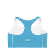 Viking Blue Racerback Sports Bra by DSent
