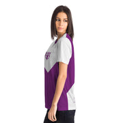 Purple and white fitness shirt by DSent