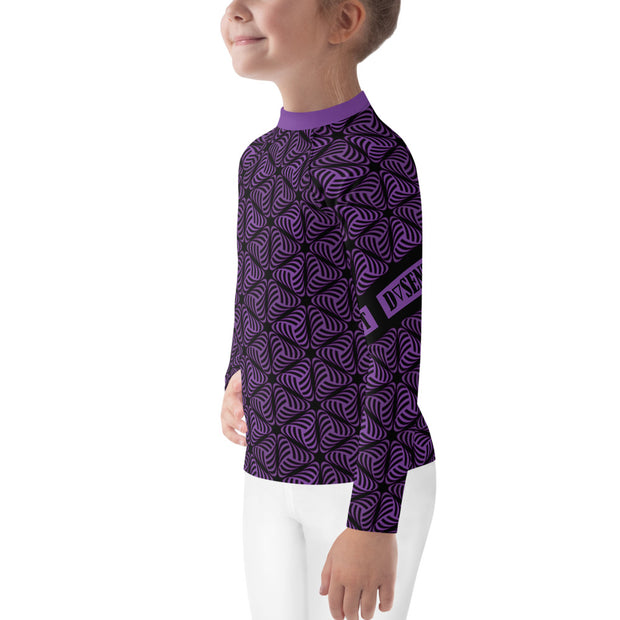 Purple Swirl Rash Guard - Dark Sentinel