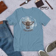 Steel Blue Grunge Shirt - Dark Sentinel