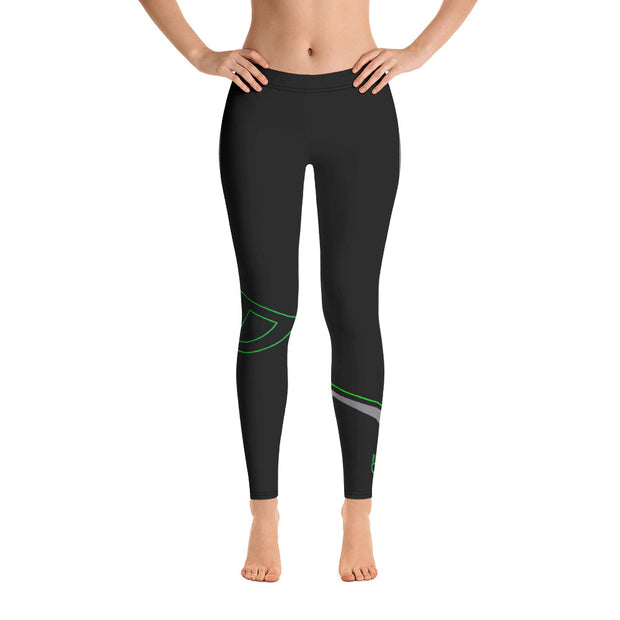 Black Fitness Leggings - Dark Sentinel