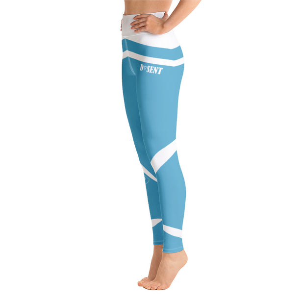 Viking Blue Yoga Leggings - Dark Sentinel