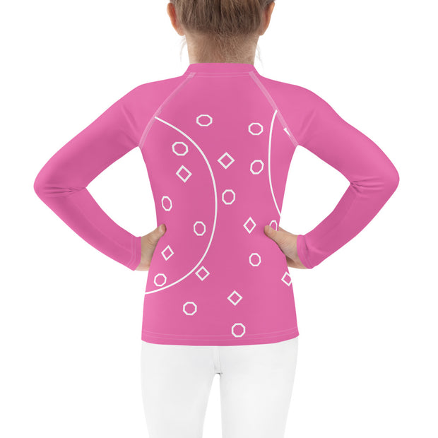 Pink Shapes Rash Guard - Dark Sentinel