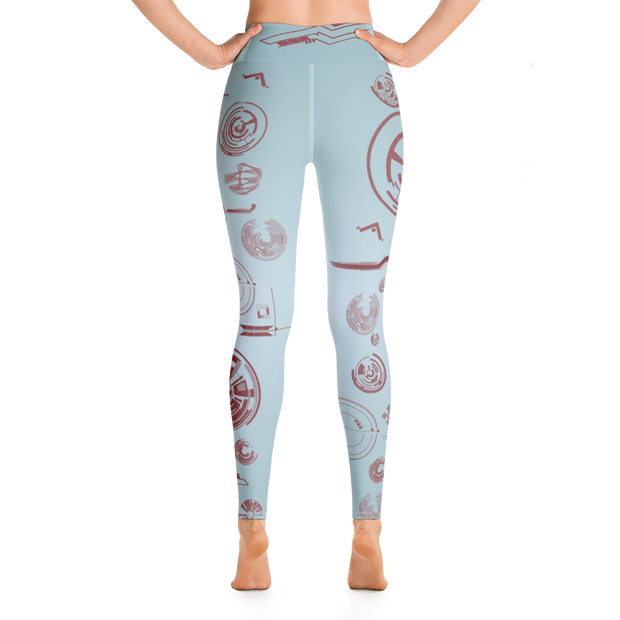 Tech v1 in Rouge Yoga Leggings - Dark Sentinel