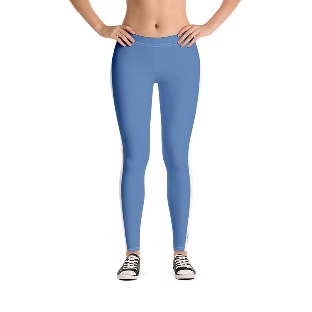 Steel Blue Fitness Leggings - Dark Sentinel