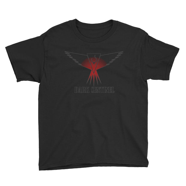 SOLD OUT Limited Edition Dark Sentinel Red Glowing Logo Youth T-Shirt - Dark Sentinel