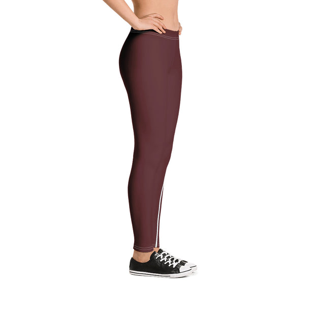 Rustic Red Performance Leggings - Dark Sentinel