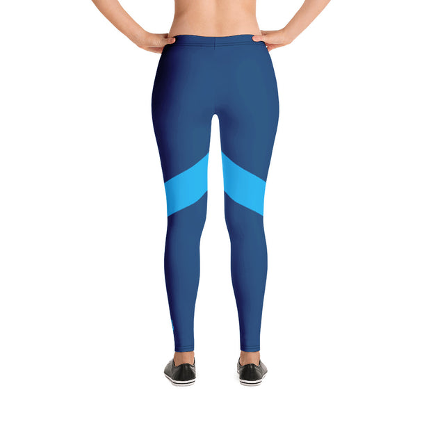 Prussian Blue Performance Leggings - Dark Sentinel