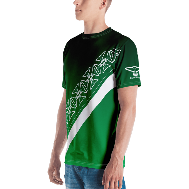 Green Ombre with Pattern T-shirt - Dark Sentinel
