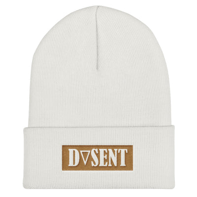 Old Gold Cuffed Beanie - Dark Sentinel