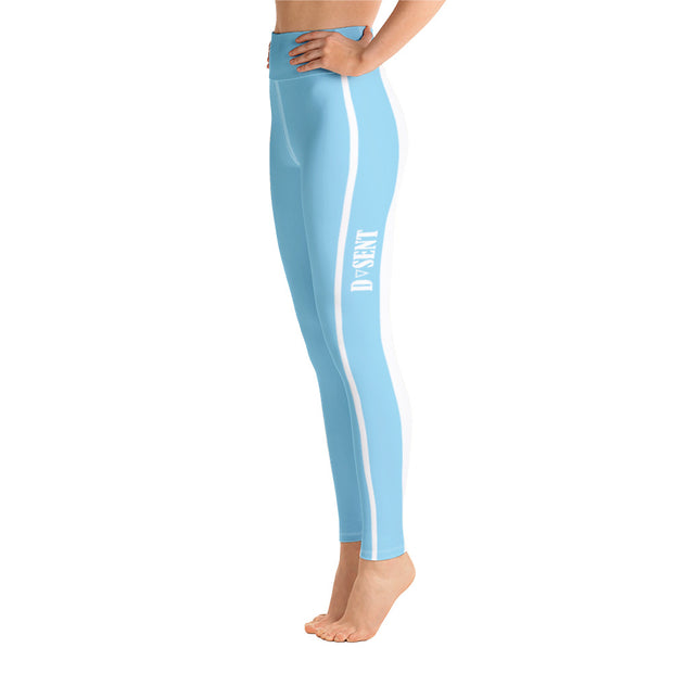 Original Yoga Leggings in Anakiwa Blue - Dark Sentinel