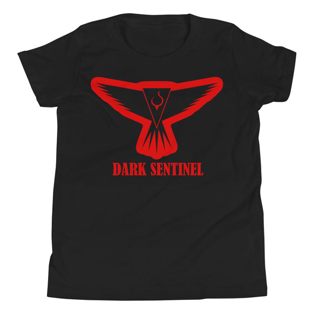Dark Sentinel Red Aura Logo Youth T-Shirt - Dark Sentinel