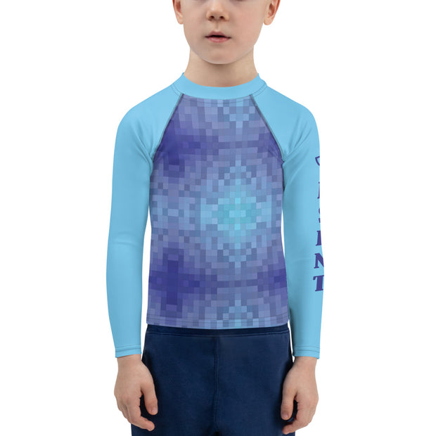 Blue Tile Kids Rash Guard - Dark Sentinel