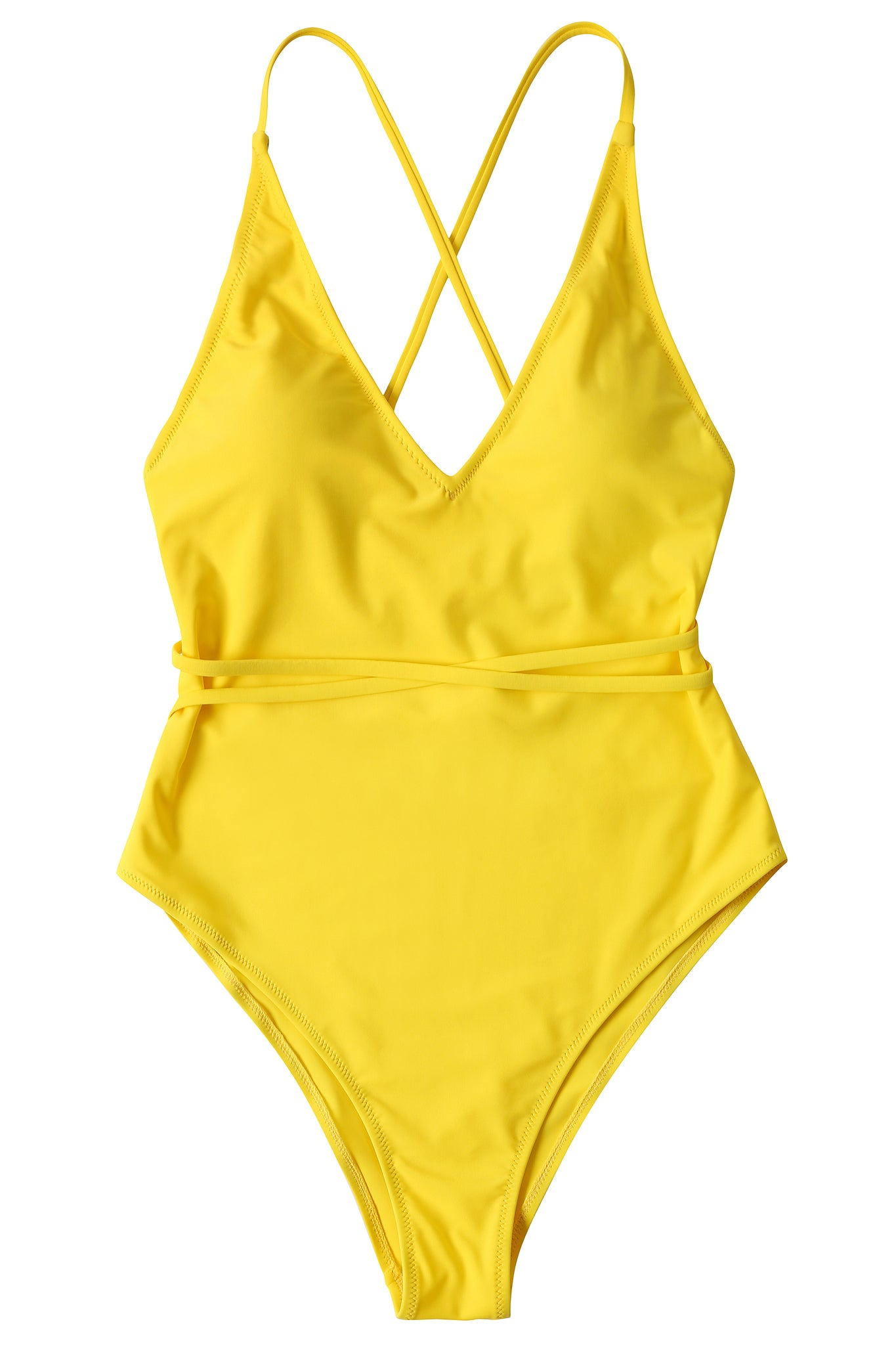 212139e3664 ... Load image into Gallery viewer, Monokini Swimsuits for Women Deep V  Spaghetti Straps Tie Back ...