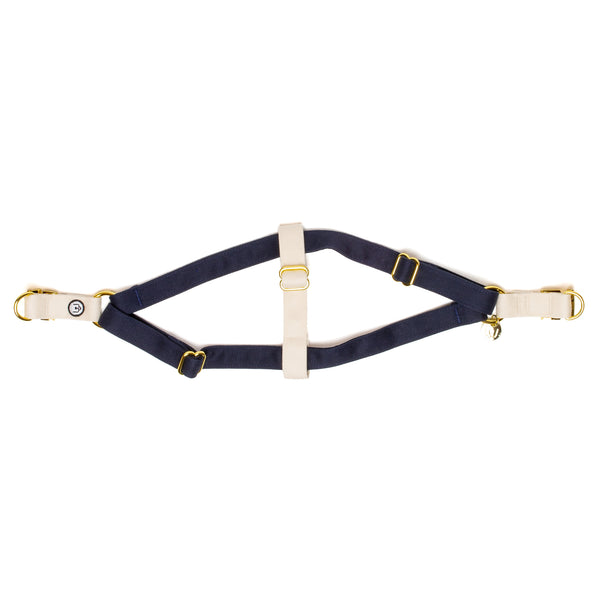Navy-Ivory Step-In Harness