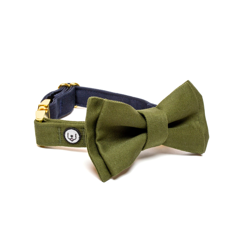 Olive Bow Tie