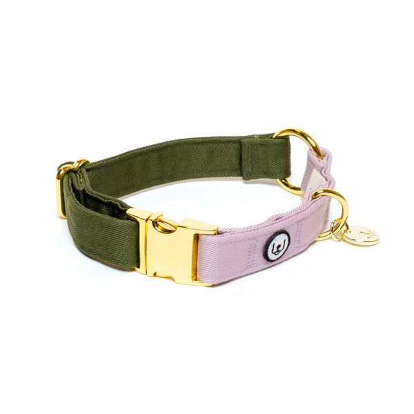 Olive-Lilac Collar Set