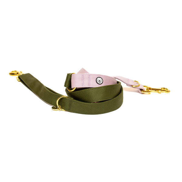 Olive-Lilac Convertible Leash