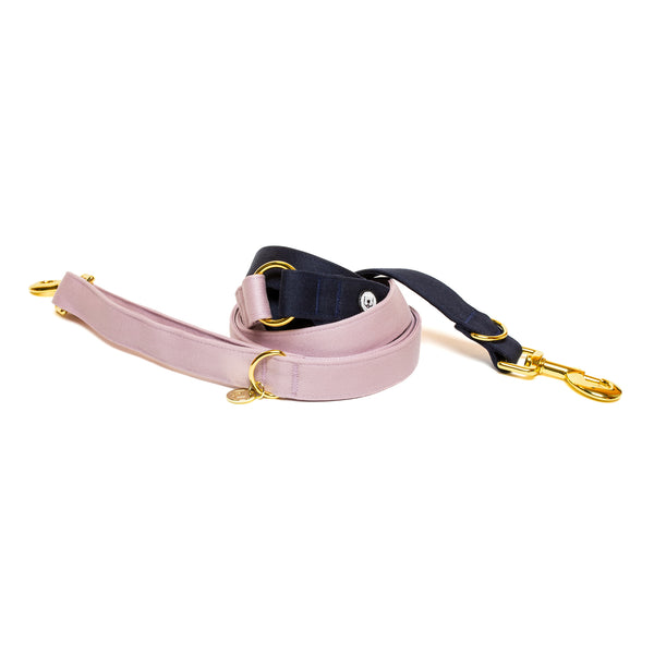 Lilac-Navy Convertible Leash