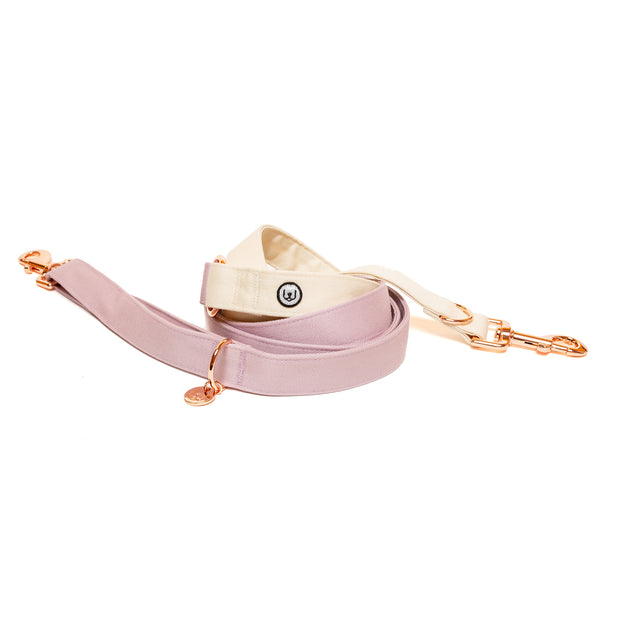 Lilac-Ivory Convertible Leash 1