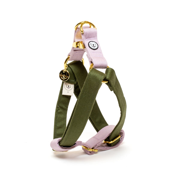 Olive-Lilac Step-In Harness