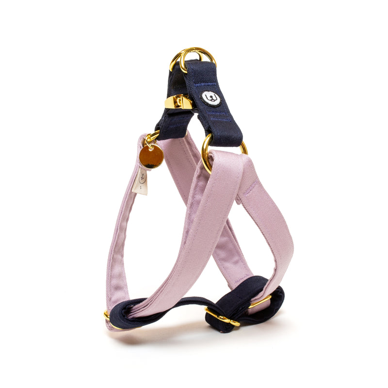 Lilac-Navy Step-In Harness Set