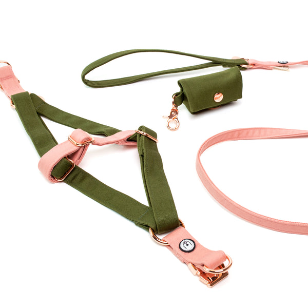 Olive-Blossom Step-In Harness Set