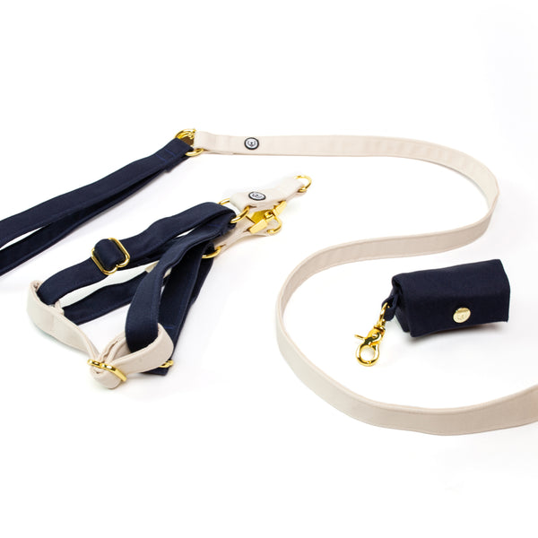 Navy-Ivory Step-In Harness Set