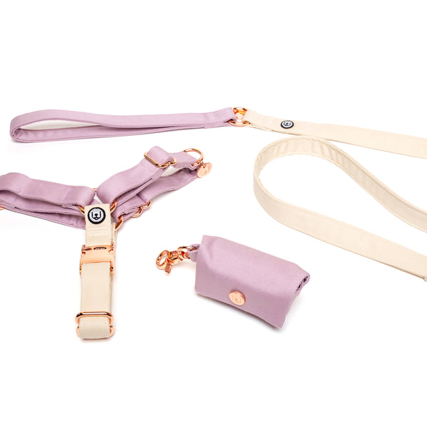 Lilac-Ivory No-Pull Harness Set
