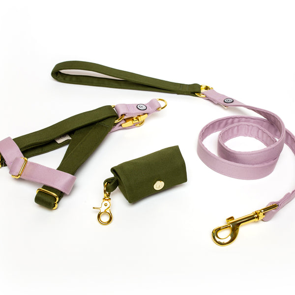 Olive-Lilac Step-In Harness Set
