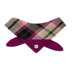 Plum Plaid Bandana