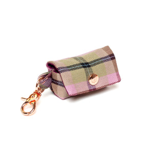Plum Plaid Poop Bag Carrier
