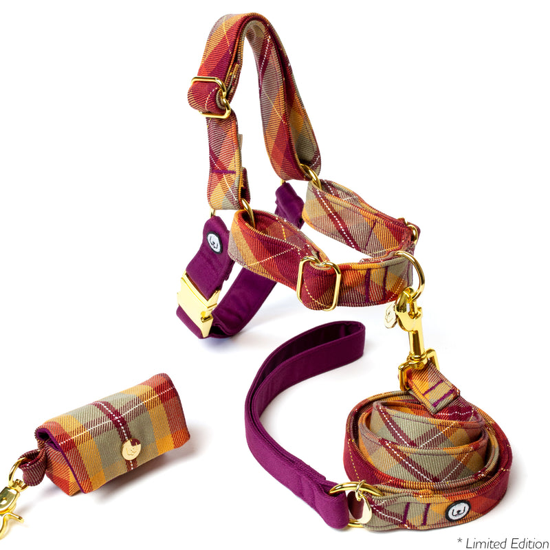 Maple Plaid No-Pull Harness Set