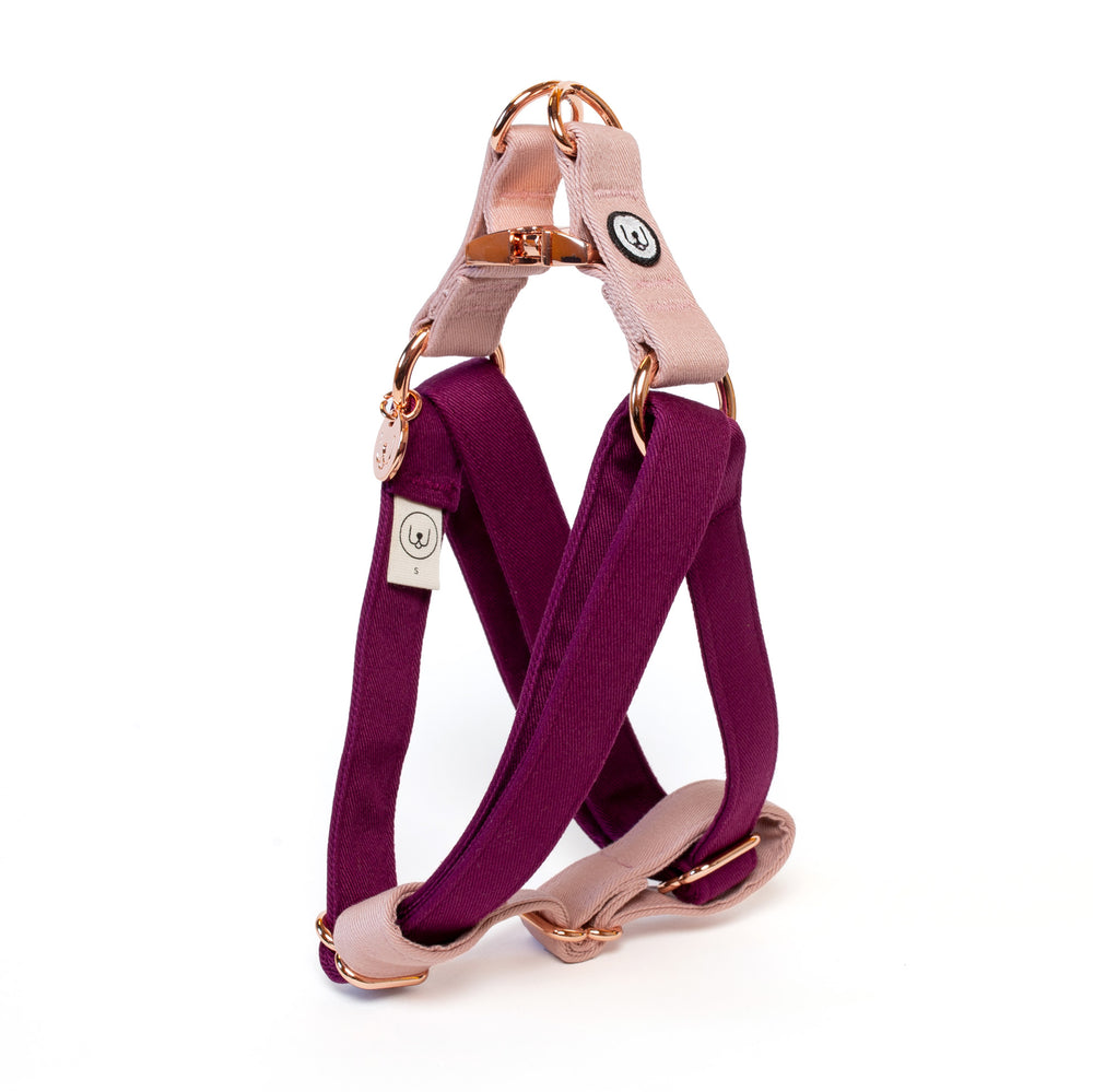 Plum-Rose Step-In Harness Set