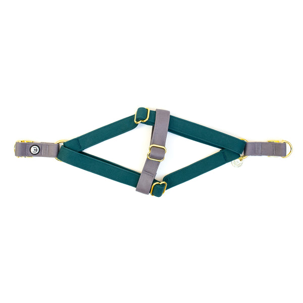 Spruce-Gray Step-In Harness