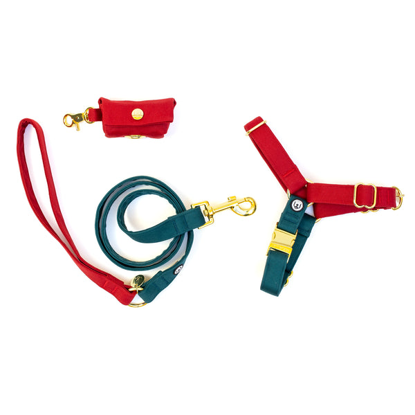 Poinsettia No-Pull Harness Set