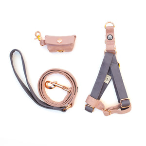 Gray-Rose Step-In Harness Set