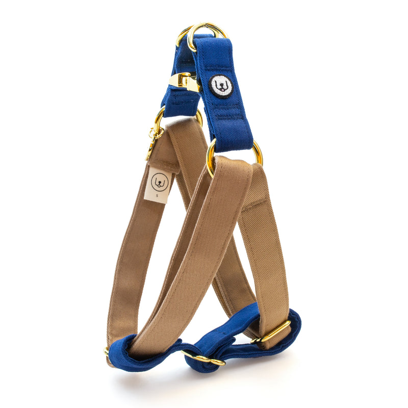 Fawn-Blue Step-In Harness Set